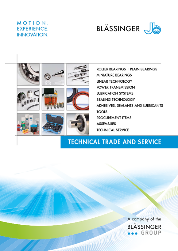 Cover titel Blässinger brochure technical trade and service